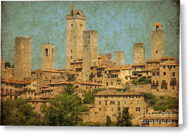 Medieval Manhatten In Italy Greeting Card
