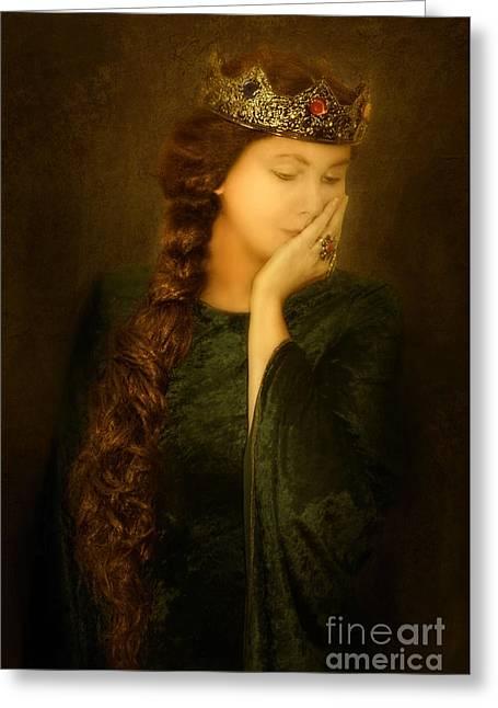 Medieval Queen Greeting Card by Jill Battaglia
