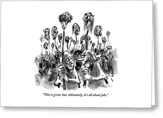 Medieval Rabble Rousers Mob Surrounding Heads Greeting Card