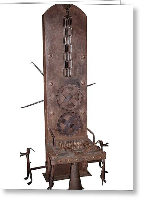 Medieval Rotating Torture Chair Greeting Card