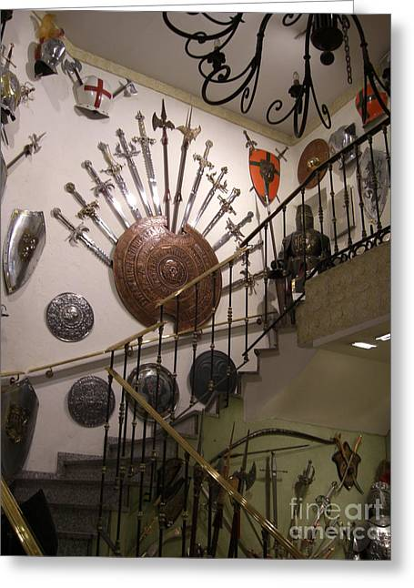 Medieval Spanish Weaponry Greeting Card