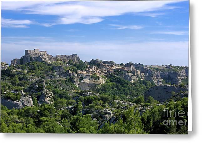 Medieval Village Of Les Baux De-provence. Alpilles. France Greeting Card by Bernard Jaubert