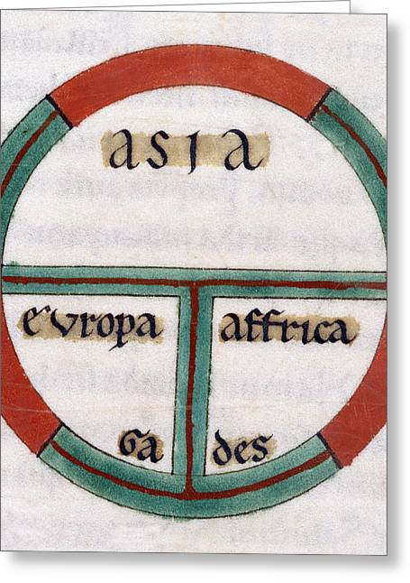 Medieval World Map, 13th Century Greeting Card
