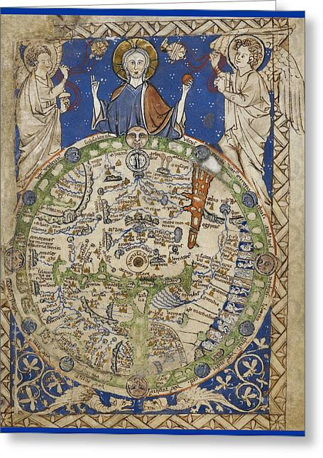 Medieval World Map Greeting Card by British Library