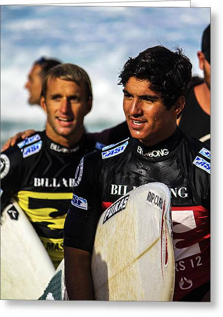 Medina At Pipe Masters Greeting Card by Jessie Mazur