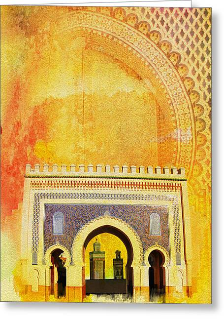 Medina Of Faz Greeting Card by Catf