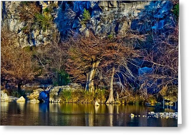 Medina River At Comanche Cliffs Greeting Card