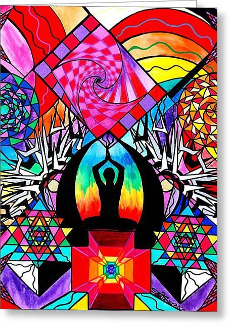 Meditation Aid Greeting Card