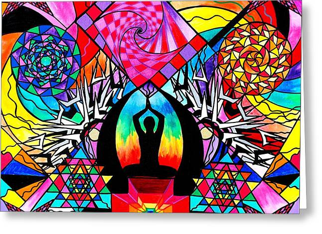 Meditation Aid Greeting Card