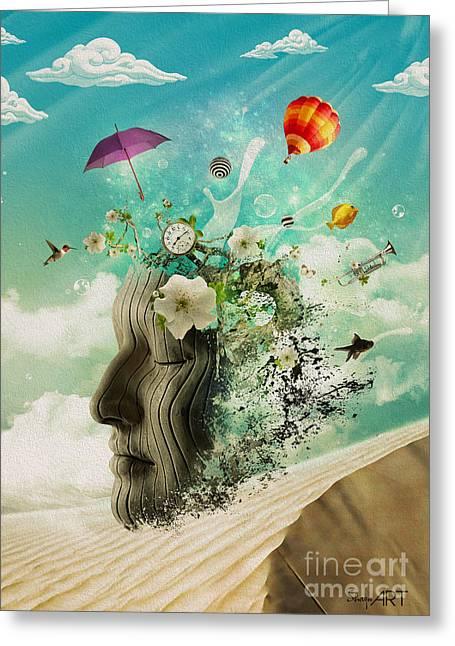 Meditation Greeting Card by Donika Nikova