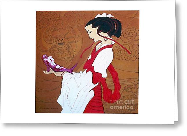 Meditation Greeting Card by Fei A