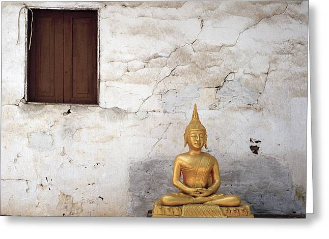 Meditation In Laos Greeting Card