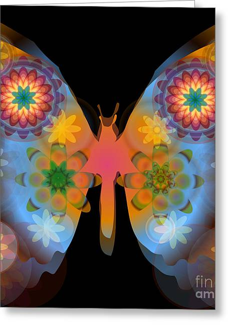 Meditative Butterfly Greeting Card