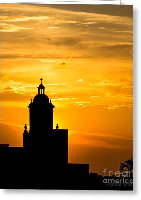 Meditative Sunset Greeting Card