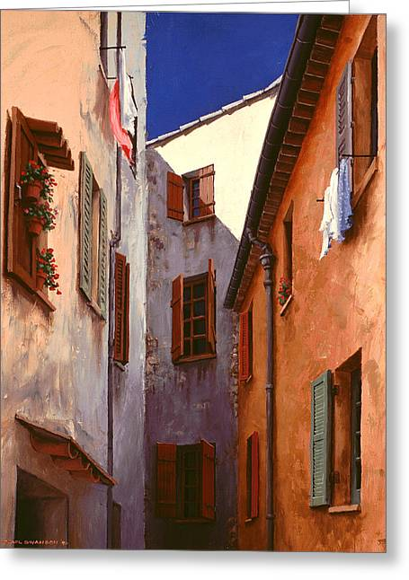 Mediterranean Blue Greeting Card by Michael Swanson