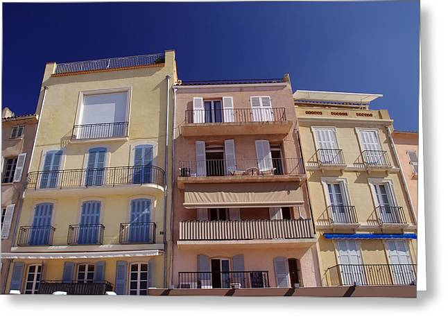 Mediterranean Coastline Appartments Greeting Card by Ioan Panaite