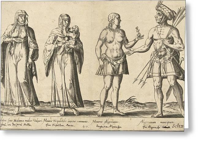 Mediterranean People Around 1580, Abraham De Bruyn Greeting Card by Abraham De Bruyn And Joos De Bosscher