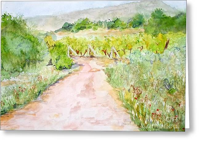 Medjugorje Path To Apparition Hill Greeting Card