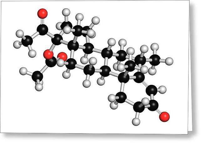Medroxyprogesterone Acetate Drug Molecule Greeting Card