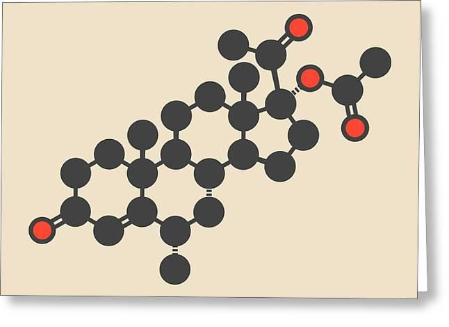 Medroxyprogesterone Acetate Molecule Greeting Card