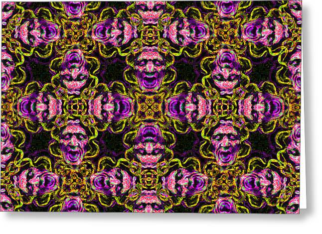 Medusa Abstract 20130131m138 Greeting Card by Wingsdomain Art and Photography