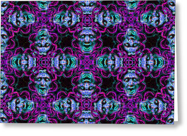 Medusa Abstract 20130131m180 Greeting Card by Wingsdomain Art and Photography