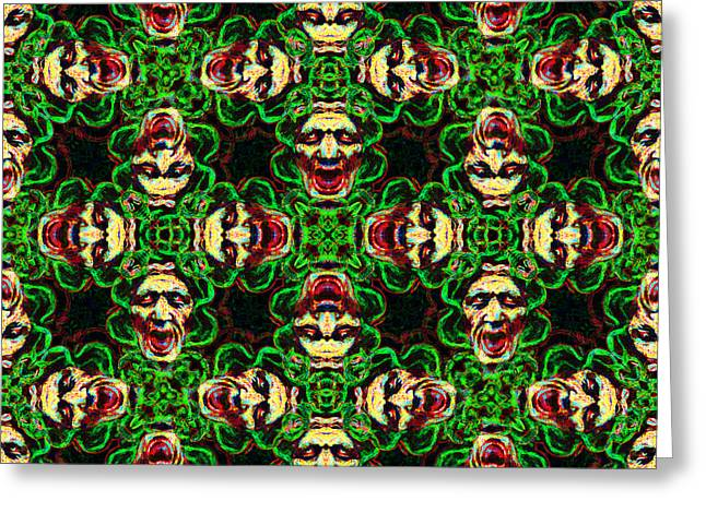 Medusa Abstract 20130131p0 Greeting Card by Wingsdomain Art and Photography