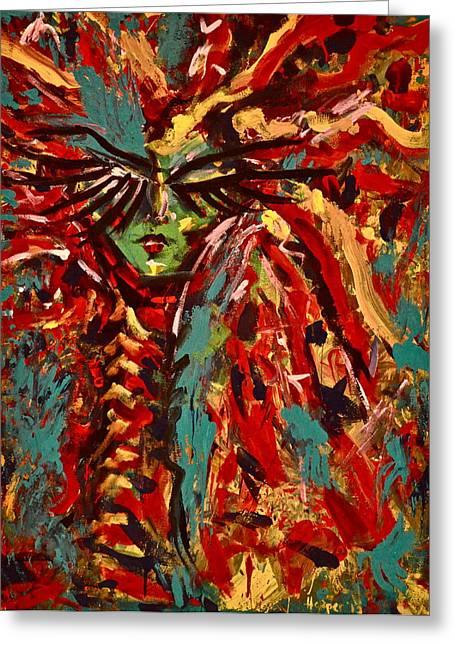 Medusa Greeting Card by Jennifer Anne Harper