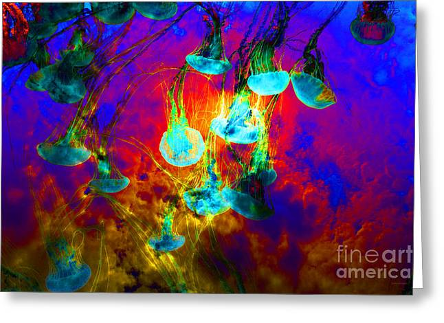 Medusas On Fire 5d24939 Greeting Card by Wingsdomain Art and Photography