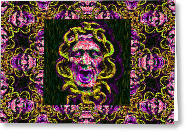 Medusa's Window 20130131m138 Greeting Card by Wingsdomain Art and Photography