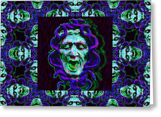 Medusa's Window 20130131p138 Greeting Card by Wingsdomain Art and Photography