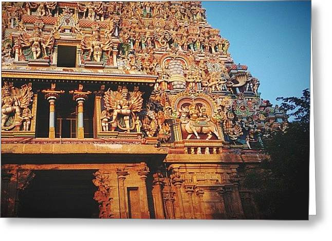 Meenakshi Temple Greeting Card