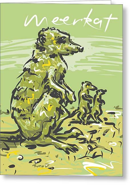 Meerkat Greeting Card by Brett LaGue