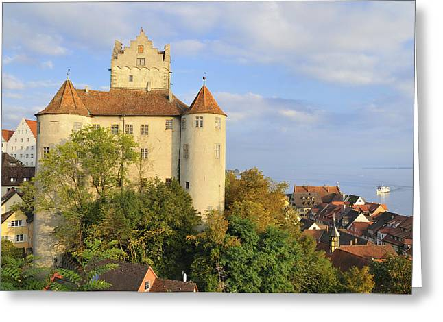 Meersburg Castle And Town Germany Greeting Card by Matthias Hauser