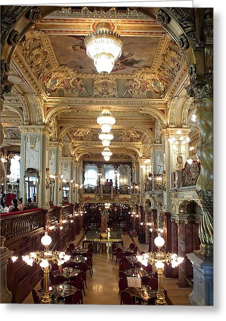 Meet Me For Coffee - New York Cafe - Budapest Greeting Card