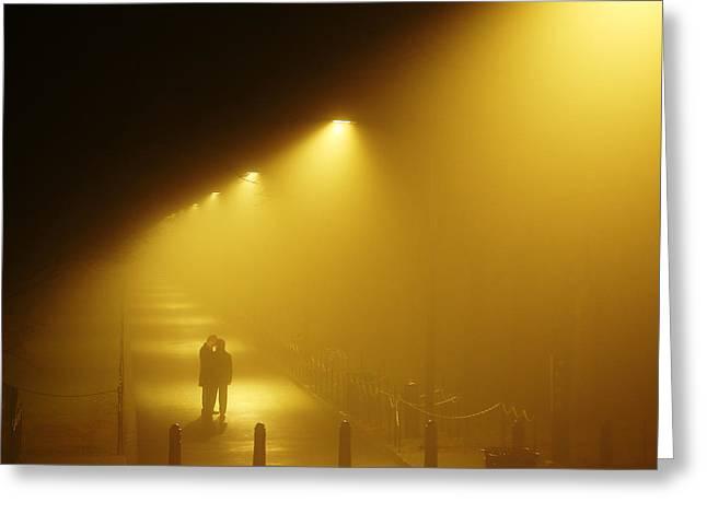 Meet Me In The Fog Greeting Card