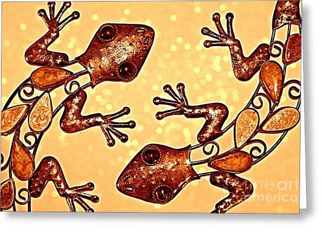 Meet The Geckos Greeting Card