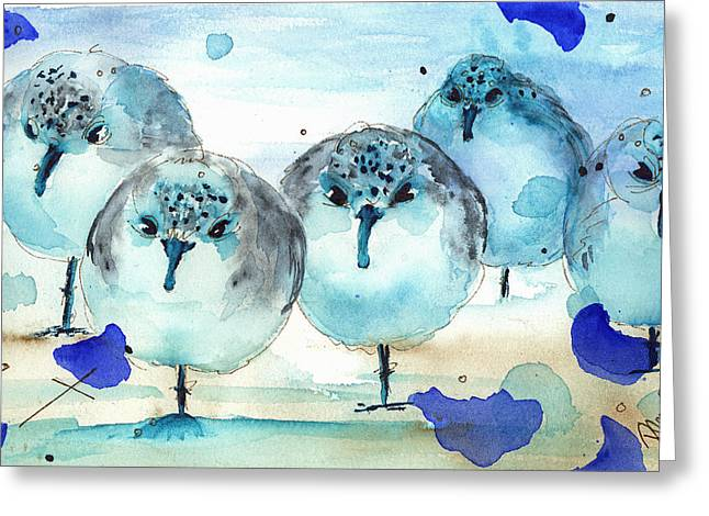 Meet The Sanderlings Greeting Card by Dawn Derman