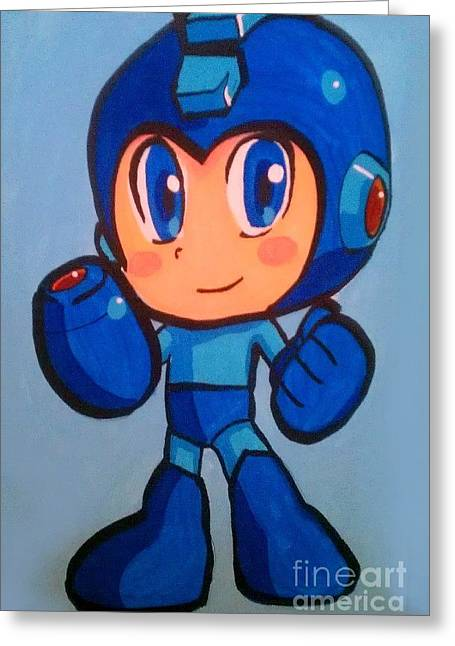 Mega Man Greeting Card