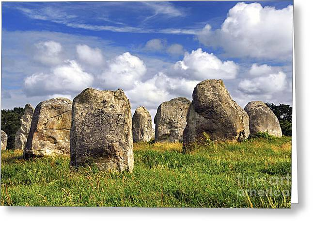 Megalithic Monuments In Brittany Greeting Card by Elena Elisseeva