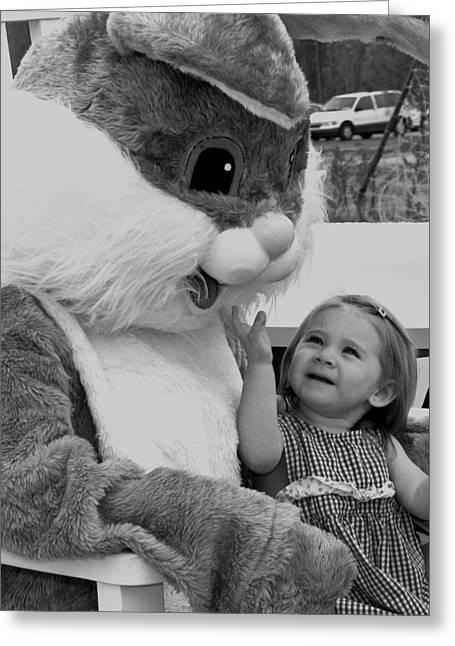 Megan  And Bugs Bunny Greeting Card
