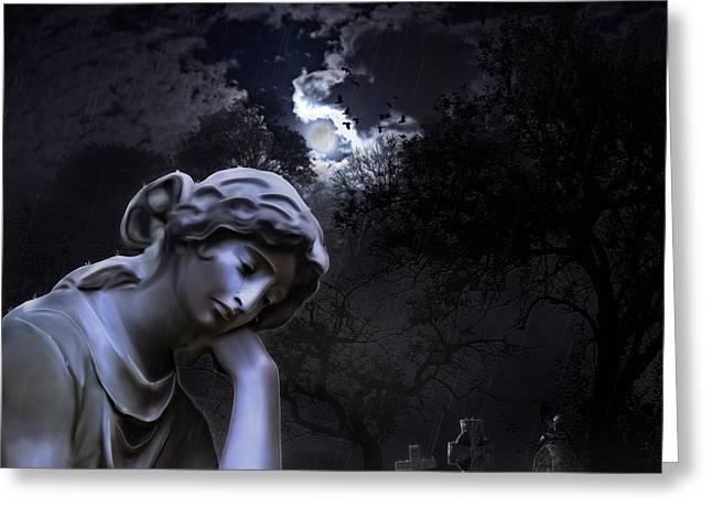 Melancholia  Greeting Card by Casey Jones