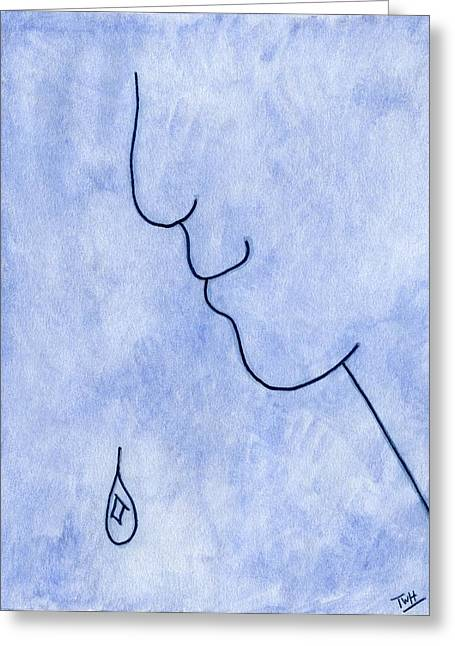 Melancholy Greeting Card by Terry Hall