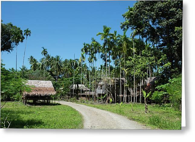Melanesia, Papua New Guinea, Fergusson Greeting Card by Cindy Miller Hopkins