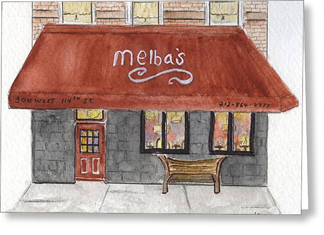 Melba's Restaurants Greeting Card by AFineLyne