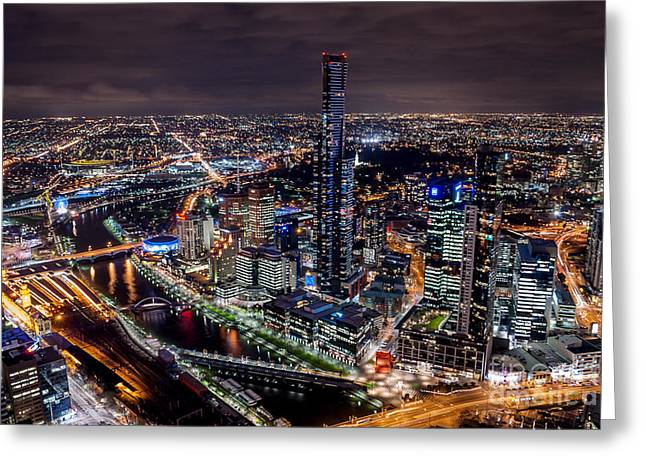 Melbourne At Night IIi Greeting Card