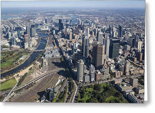Melbourne From The South East Corner Greeting Card by Brett Price