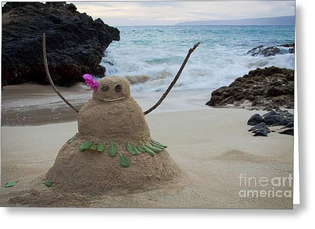 Mele Kalikimaka Merry Christmas From Paako Beach Maui Hawaii Greeting Card by Sharon Mau