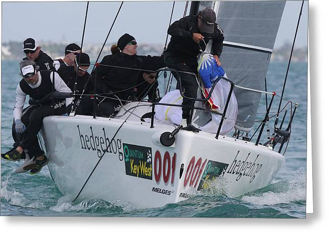 Melges 32 At Key West Greeting Card by Steven Lapkin