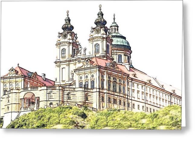 Melk Abbey In Lower Austria Greeting Card